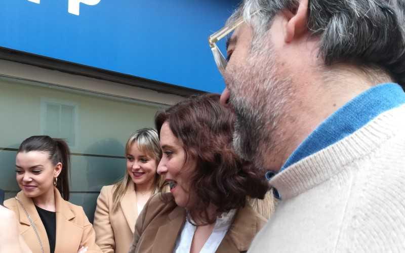 Isabel Díaz Ayuso, durante la inauguración de la sede del PP en Arganda del Rey