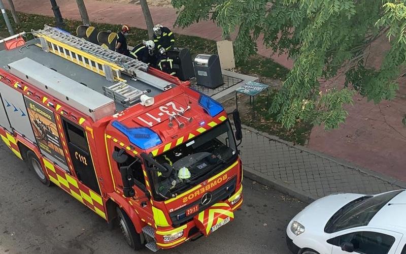 Investigan la quema de otro contenedor en la zona de El Mirador