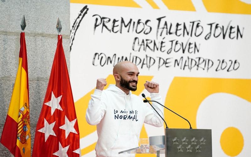 El argandeño David Rodríguez, presidente de la Fundación Pegasus, galardonado con el premio Talento Joven de la Comunidad de Madrid