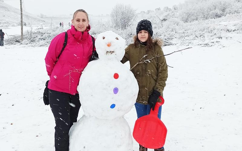 Los vecinos y vecinas de Arganda comparten sus fotos de la nevada