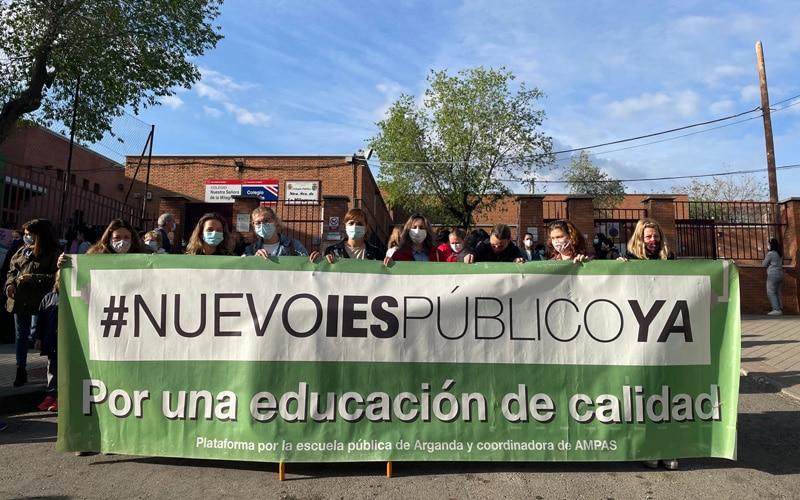 La comunidad educativa de Arganda se vuelve a movilizar para exigir un nuevo instituto
