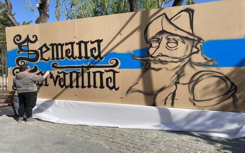 Grafiteros locales ponen color a la Semana Cervantina de Arganda