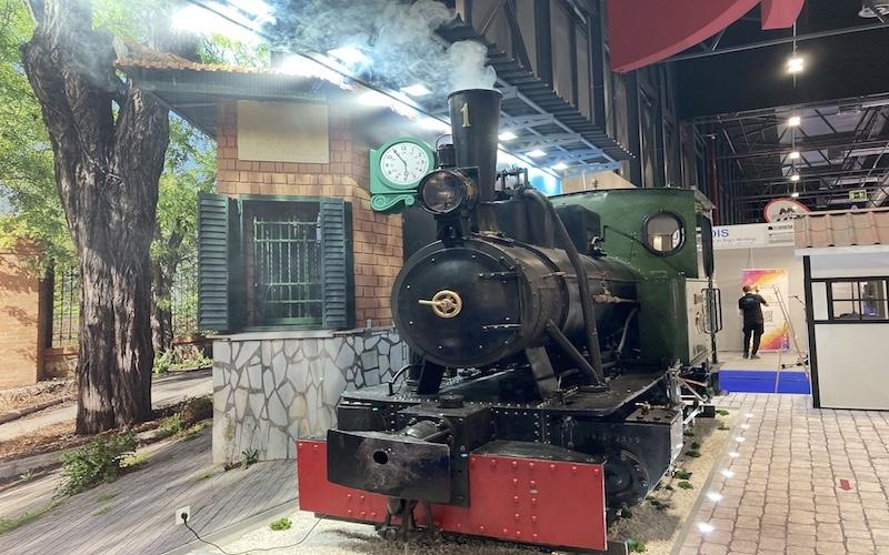 El Tren de Arganda en el stand del municipio en la 41º Feria Internacional del Turismo