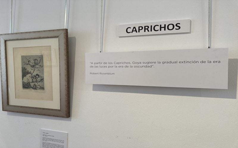 """Serie de grabados """"Los caprichos"""" de Goya"""
