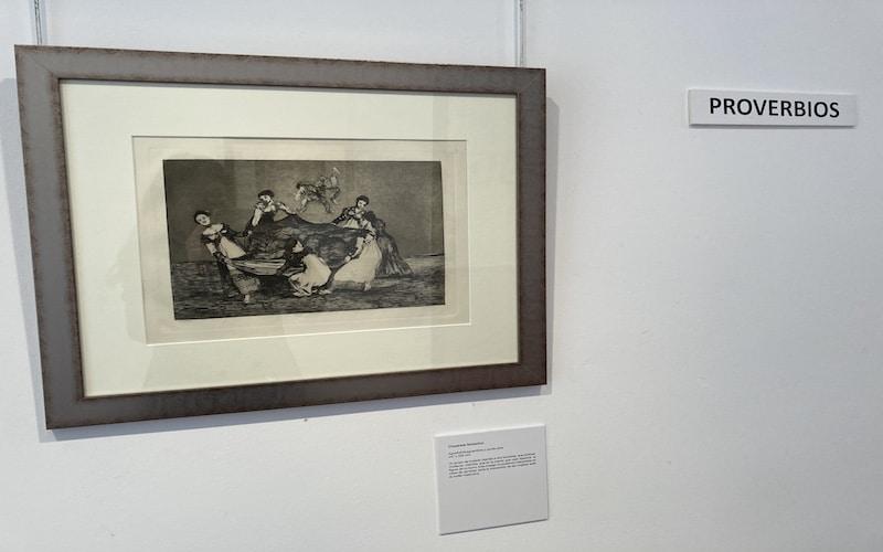 """Fotografía """"Disparate femenino"""" de Goya"""
