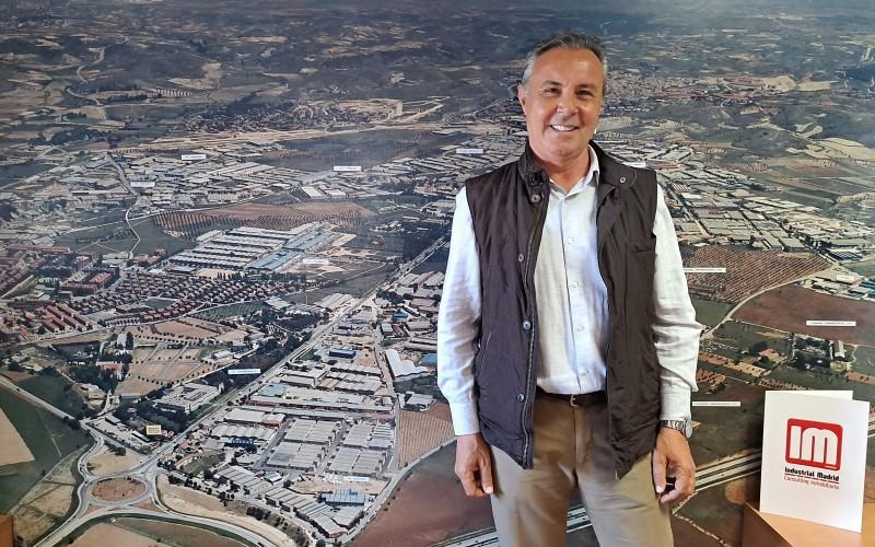 Javier Villapalos, fundador de Industrial Madrid, en sus oficinas de Arganda del Rey