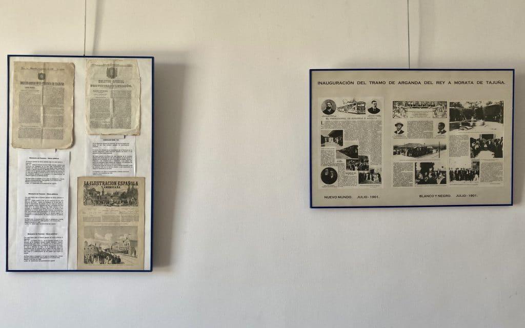 Documentos antiguos del Tren de Arganda en la exposición ´Fitur en Arganda´