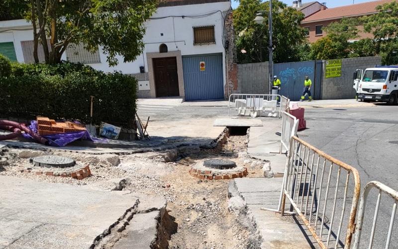 El Ayuntamiento de Arganda acomete la renovación de colectores en tres calles de la ciudad