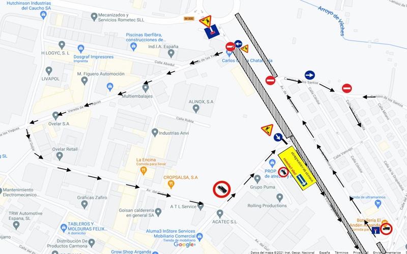 Las obras de Metro provocarán también cortes de tráfico en la avenida de Valdearganda hasta el 31 de agosto