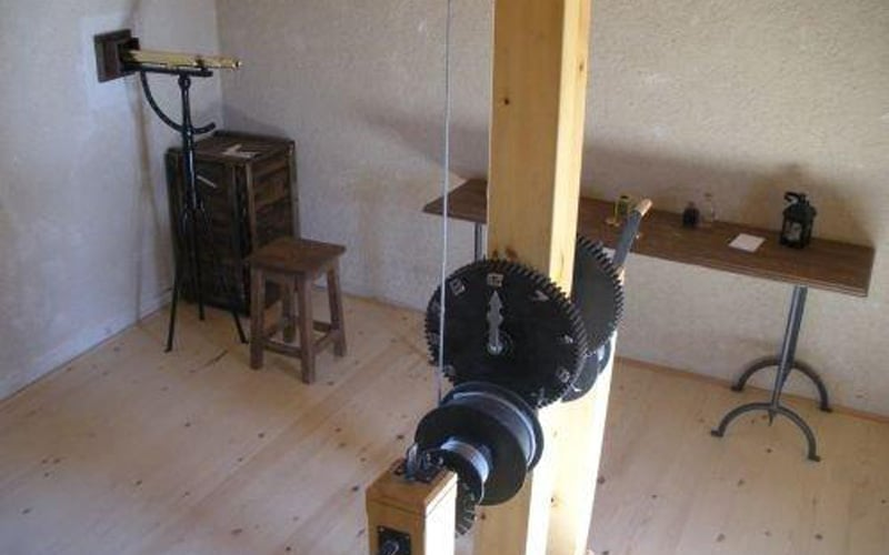 Interior de la Torre de telegrafía óptica de Arganda (foto: Ayuntamiento de Arganda del Rey)